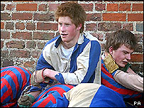 Prince Harry playing the Eton Wall Game
