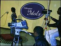 Cameramen filming Ethiopian Idol