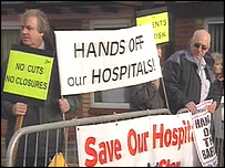 Campaigners have battled to save two hospitals in Suffolk