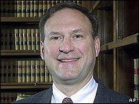 Undated photo of Judge Samuel Alito