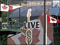 Live 8 concert grounds in Barrie, Ontario