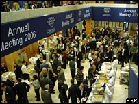 People attending the World Economic Forum in Davos