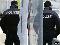 Policemen at the World Economic Forum in Davos