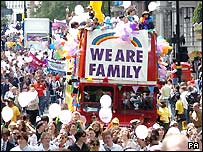 Marchers at Gay Pride 2004