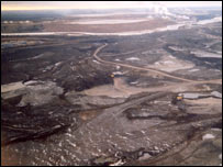 Oil sands from the air