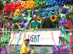 The Southwark Lesbian, Gay, Bisexual or Transgender Network's float