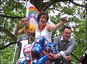 Gay Pride festival goers