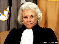 Retiring Supreme Court Justice Sandra Day O'Connor