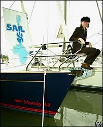 Bob Geldof launching Sail 8 at Swanwick Marina, Hampshire
