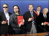 Bono launching the Red product line