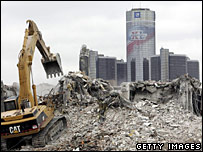 demolition of Motown Center
