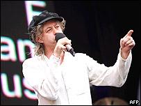 Bob Geldof durante el concierto de Live 8 en Hyde Park, Londres