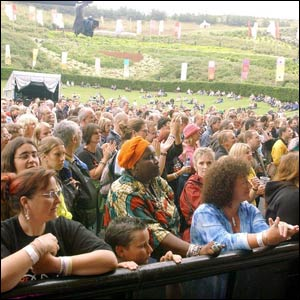 Audience at Africa Calling at Eden Project
