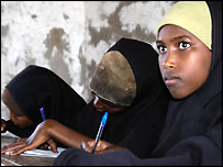 Girl at a school in Wajir  (photo: Mike Pflanz)