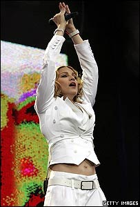 Madonna at Live 8