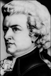 Undated portrait of Wolfgang Amadeus Mozart