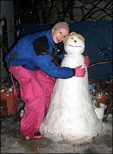 Snowman, Eressos, Lesvos, Greece