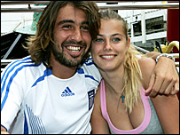 Marcos Baghdatis and girlfriend Camille Neviere