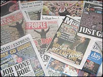 Sunday's papers