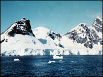 Icebergs in Antarctica (BBC)