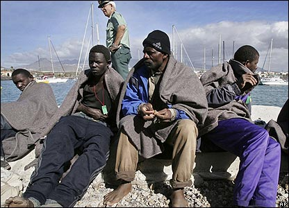 African migrants in Tenerife