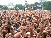 Live 8 crowd in Hyde Park