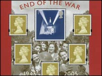 Display showing new 1st class stamp