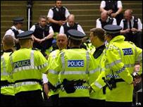 Police officers in Edinburgh
