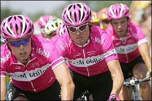 Germany's Jan Ullrich rides with his T-Mobile team