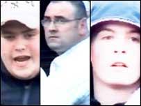 Three men from CCTV