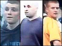 CCTV images of three men