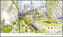 Urban colonies scenario PIC: Narinder Sagoo/Foster and Partners