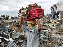 Tsunami victim