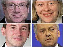 Clockwise from top left: Chris Smith, Angela Eagle, Alan Duncan, Stephen Williams