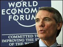 US Trade representative Rob Portman at Davos