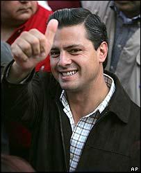PRI candidate Enrique Pena