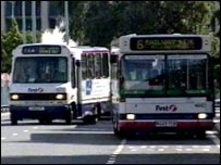 First minibus and full-sized bus
