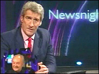 Jeremy Paxman's Big Brother appearance with George Galloway inset