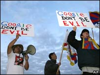Anti-Google protestors, AP