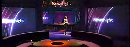 The Newsnight studio