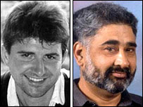 Murder victims Tom ap Rhys Pryce (left) and Balbir Matharu
