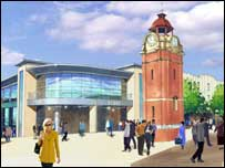 Artist's impression of Bangor's new M&S
