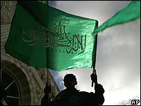 Hamas supporter celebrates