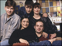 Left to right: Picture shows as Jason Hughes as Warren, Amita Dhiri as Milly, Jack Davenport as Miles, Daniela Nardini as Anna and Andrew Lincoln as Egg