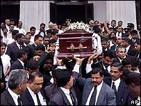 Funeral of judge Sarath Ambepitiya