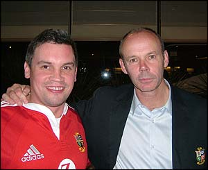 Simon Caudwell and Lions coach Sir Clive Woodward