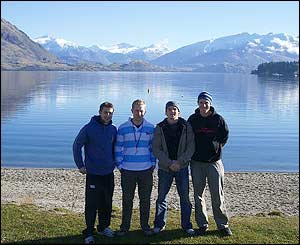 Rory Pollock and friends enjoy the sights of New Zealand
