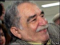 Close-up of Garcia Marquez