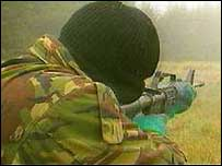 IRA gunman. File photo