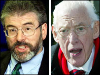 Gerry Adams and Ian Paisley